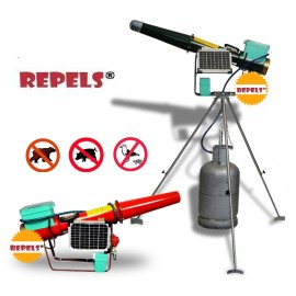 Electronic and Solar Cannon with Rotary Tripod Scares Birds and Wildlife