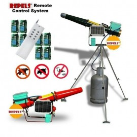 Propane Cannon Scares Birds & Wildlife Electronic Solar Powered with Remote Control